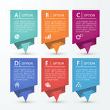 sztandarów origami papieru setu wektor Obraz Royalty Free