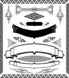 sztandarów projektów ornamental ozdobny Zdjęcia Stock