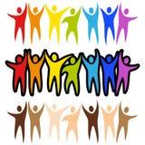 sztandarów różnorodności ludzie