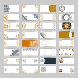 32 sztandarów set ilustracji