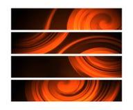 sztandarów skutka pomarańczowa twirl sieć Obrazy Stock
