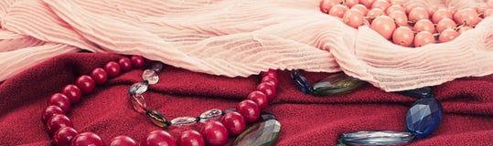 Sztandarów Ustaleni akcesoria dla kobiety mody zakupu Fotografia Royalty Free