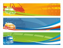 sztandarów współczesny setu transport Zdjęcie Stock
