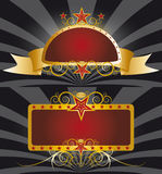 sztandarów złota czerwień Zdjęcia Stock