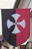 sztandar średniowieczny zdjęcia royalty free