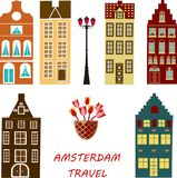 Sztandar Amsterdam miasto royalty ilustracja