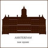 Sztandar Amsterdam miasto ilustracja wektor