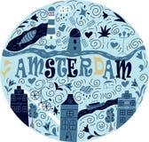 Sztandar Amsterdam miasto Obraz Stock