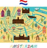 Sztandar Amsterdam miasto ilustracji