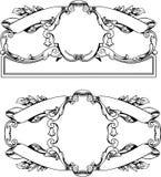 sztandar antykwarskie ramy Obrazy Royalty Free