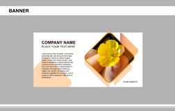 Sztandar, biznes, gatunek, reklamuje ilustracja wektor