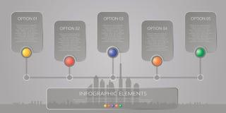 Sztandar, biznes kroczy infographics szablon Zdjęcie Royalty Free