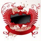sztandar czarna klasyczna czerwień Zdjęcia Royalty Free