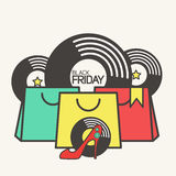 Sztandar dla Black Friday Zdjęcia Royalty Free
