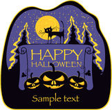 Sztandar dla Halloween Zdjęcia Stock