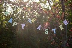 sztandar Easter szczęśliwy Zdjęcie Stock