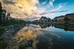 Sztandar góra Zdjęcie Royalty Free