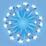 sztandar gwiazdy Ilustracji