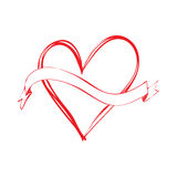 Sztandar i miłość royalty ilustracja
