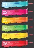 Sztandar Infographics Zdjęcia Stock