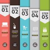 Sztandar Infographics Obrazy Stock