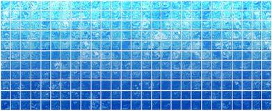 Sztandar iryzujący błękitny kwadraty Ilustracji