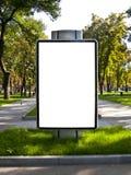 Sztandar jest w parku Zdjęcia Stock