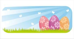 sztandar kolorowy Easter ilustracja wektor