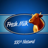 Sztandar krowy błękit Ilustracji