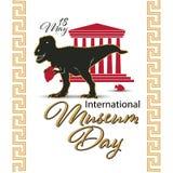 Sztandar lub plakat dla Międzynarodowego Muzealnego dnia z projekt ilustracją ładną i kreatywnie, 18th Maj royalty ilustracja