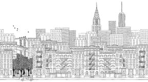 Sztandar Miasto Nowy Jork royalty ilustracja
