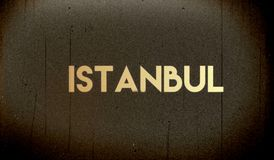 sztandar na szarym tle Istanbuł royalty ilustracja