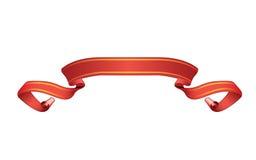 sztandar odizolowywająca czerwona ślimacznica Zdjęcie Stock