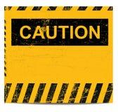 sztandar ostrożność Zdjęcia Royalty Free