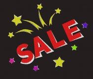 Sztandar sprzedaż w kreskówka stylu Fotografia Royalty Free