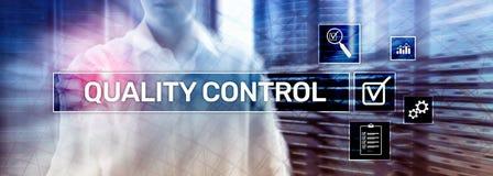 Sztandar strony internetowej chodnikowiec Kontrola jako?ci i zapewnienie standardisation gwarancja standardy Biznes i technologia obraz stock