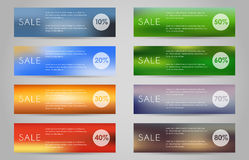 Sztandar ustawiający sprzedaż Obrazy Stock