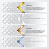 Sztandar wyplata stylowego złoto, brązowieje, osrebrza, błękitny kolor Zdjęcia Stock