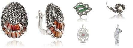 Sztandar z biżuterią obraz royalty free