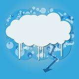 Sztandar z niebem i chmurą ilustracja wektor