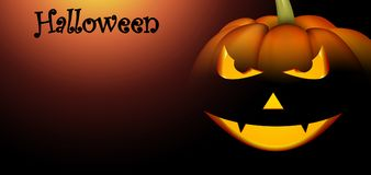 Sztandar z pomarańczową Halloween banią Fotografia Stock
