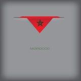 Sztandar z stylizowaną Maroko flaga Zdjęcia Stock