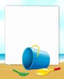 Sztandar z widok na ocean Zdjęcie Royalty Free