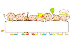 sztandar za dzieciaków target2918_1_ Obraz Royalty Free