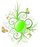 sztandar zieleń Obraz Royalty Free