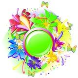 sztandar zieleń Zdjęcie Royalty Free