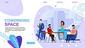 Sztandarowi Piszą Coworking przestrzeni lądowania stronie ilustracji