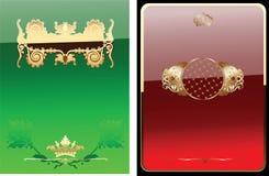 sztandaru łuny zieleni ozdobny czerwony królewski Zdjęcie Royalty Free