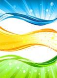 sztandaru abstrakcjonistyczny colour ilustracja wektor