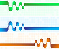 sztandaru abstrakcjonistyczny kolor trzy obrazy stock